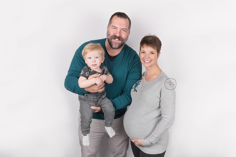 a family maternity photo