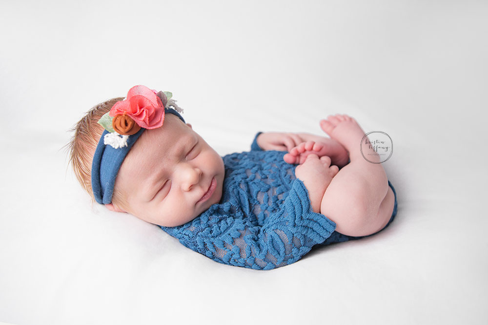 a newborn photo from a baby girl's photo session