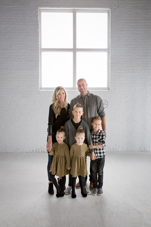 a family photo taken at Aspire Studios