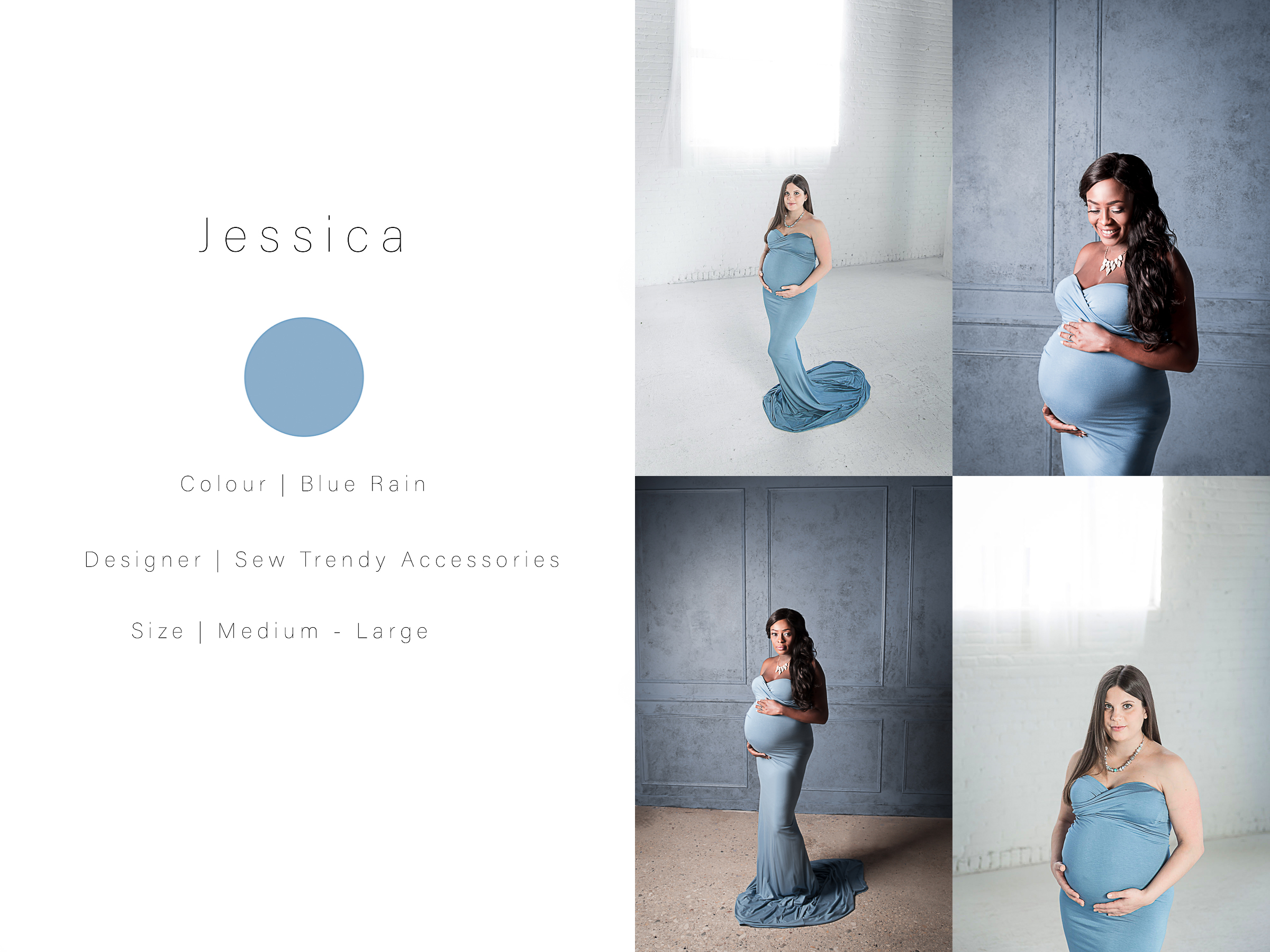 a collage of maternity photos