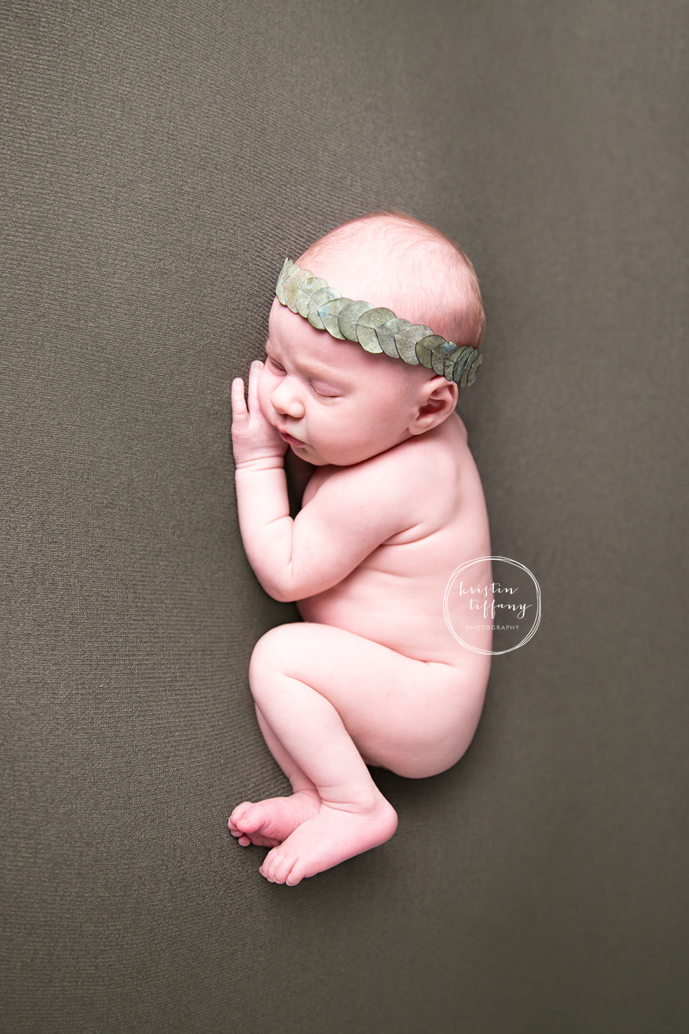 a photo of a baby girl at her newborn session