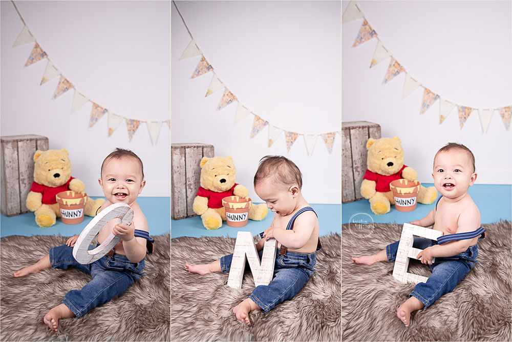 a photo of a baby boy at a cake smash photo session